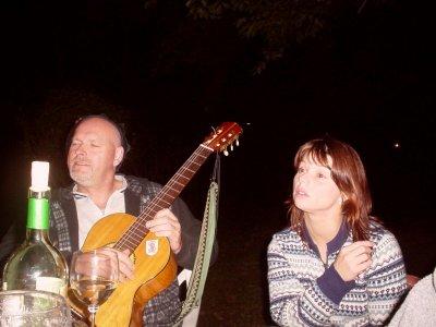 Oswald und Anja lauschen and�chtig dem Gesamg